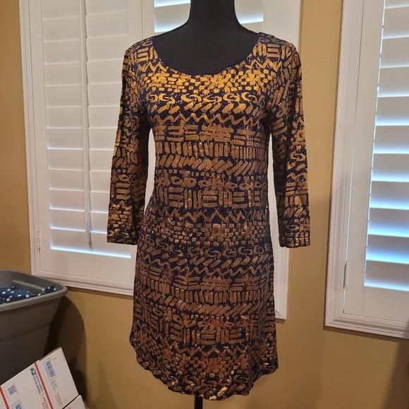Stuzzy jaquared dress size small